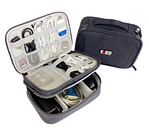 Travel Gear Electronics Accessories Organizer Storage Bag (Gray)  Image of 51j4GGWSWSL
