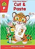 School Zone - Cut & Paste Skills Workbook, Preschool and Kindergarten, Ages 3 to 5, Scissor Cutting, Fine Motor Skills, Hand-Eye Coordination (School Zone A Little Hand Helper Book Series)