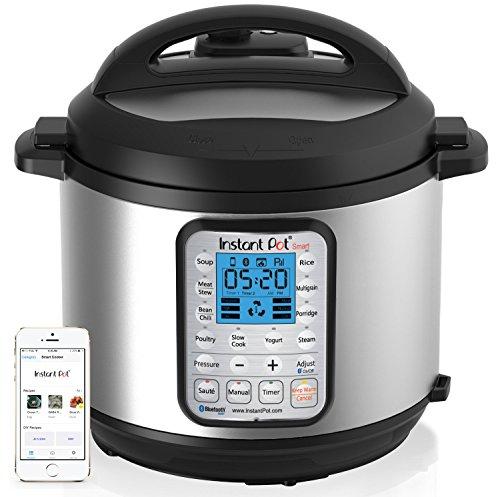 Instant Pot Smart Bluetooth Multi-Use Programmable Pressure Cooker, 6 Quart