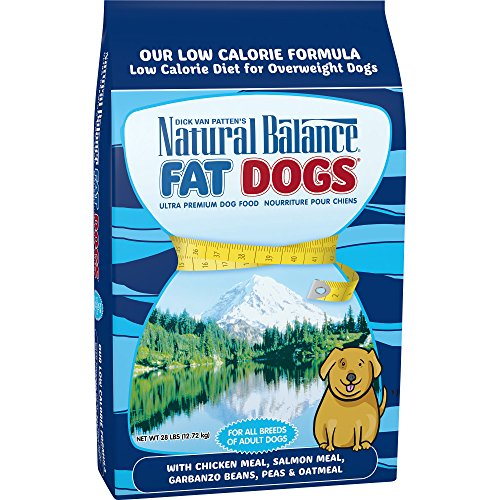 Natural Balance Fat Dogs Chicken Meal, Salmon Meal, Garbanzo Beans, Peas & Oatmeal Dry Dog Food, 28 Pounds