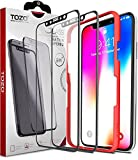 TOZO for iPhone X/XS/11 pro Screen Protector 5.8 (2 Packs) Glass [ 3D Full Frame ] Premium Tempered 9H Hardness PET [Soft Edge Hybrid] Super Easy Apply for iPhone 10s Work with Black Edge [Edge to Edge]