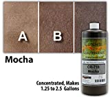 Concrete Resurrection Concrete Stain Concentrate Just Add Water, User & Eco-Friendly Semi-Transparent Professional Grade Cement Stain, Brand (32 ounce, Mocha)