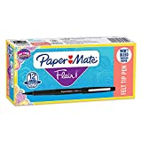Paper Mate Flair Felt Tip Pens, Medium Point (0.7mm), Black, 12 Count  (Packaging may vary)