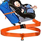 KangoKids Car Seat Travel Belt for Stress-Free Travel with Kids. Car Seat Travel Strap to Turn Your CarSeat and Carry-On Luggage into an Airport Stroller & Carrier.
