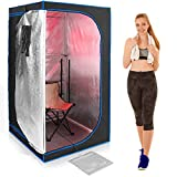 SereneLife SLISAU30BK Full Size Portable Sauna - Infrared Heating Personal Home S, Black