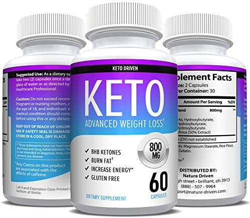 Keto Diet Pills That Work - Weight Loss Supplements to Burn Fat Fast - Boost Energy and Metabolism - Best Ketosis Supplement for Women and Men - Nature Driven - 60 Capsules 6