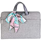 DCBRAA Laptop Bag 14 Inch - for Women,Canvas Tote Ladies and Men Laptop Computer Case. ...