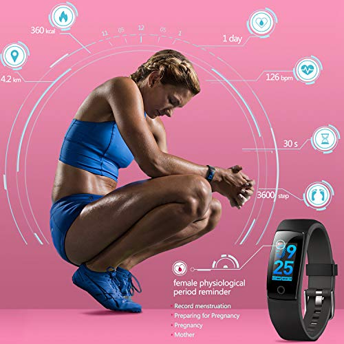 51jDPSY1jSL - MorePro Waterproof Health Tracker, Fitness Tracker Color Screen Sport Smart Watch,Activity Tracker with Heart Rate Blood Pressure Calories Pedometer Sleep Monitor Call/SMS Remind for Women Men