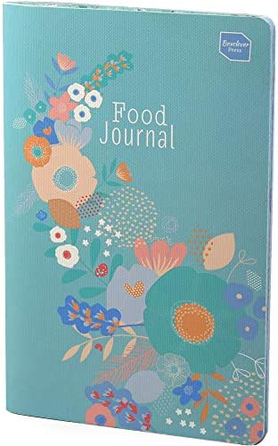 Boxclever Press Food Journal for a Healthier Lifestyle. Food Diary and Food Journal Log Book. Portable Daily Planner to Use with Weight Watchers, Diets or Personal Training Plans. (Turquoise Bloom) 3
