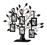 Klikel 13' Medium Bronze Family Tree of Life Centerpiece Display Stand With 6 Hanging Photo Picture Frames