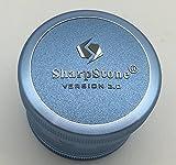 2.5' Sharpstone Version 2.0 4pc Solid Top Grinder - New, Improved & Redesigned! (Blue)