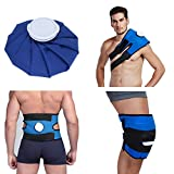 Koo-Care Pain Relief Hot Cold Therapy Reusable Ice Bag Pack & Wrap for Head, Shoulder, Back, Knee etc.(9', Dark Blue)