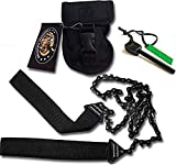 Sportsman Pocket Chainsaw 36 Inch Long Chain & FREE Fire Starter Best Compact Folding Hand Saw Tool...