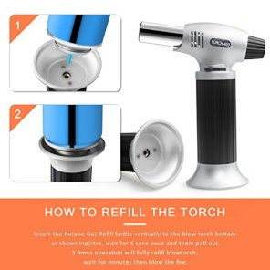 Authenzo-Kitchen-Butane-Torch-Lighter-Butane-Gas-Not-IncludedBlack