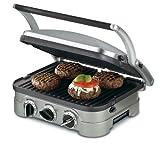 Cuisinart 5-in-1 Griddler, GR-4N, Silver/Black Dials
