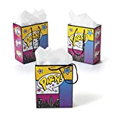 Fun Express Small Superhero Girl Gift Bags - 12 CT by Party Favors