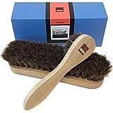 Premium Horsehair Shoe Shine Brush and Polish Applicator Set | Shoe Shining Bristle Brushes and Dauber Kit