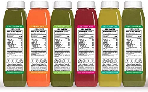 Raw Generation 3-Day Skinny Juice Cleanse for Fast Weight Loss, 100% Raw Plant-Based Detoxifying Cleanse, Healthy Fruits, Vegetables, and Probiotics for Gut Health, 6 Delicious Flavors (18 Count) 4