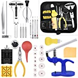 Longruner Watch Repair Kit Watchmaker's Tools Battery Replacement Watch Case Back Opener Link Band Remover Tool Kit