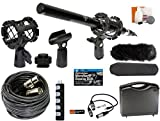 Professional Advanced Broadcast Microphone and accessories Kit for Canon EOS DSLR 5D Mark II III 6D 7D 7D II 77D 80D 70D 60D T6s T7i T6i T5i T4i T3i SL1 Cameras