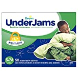 Pampers UnderJams Disposable Bedtime Underwear for Boys Size S/M, 50 Count, SUPER