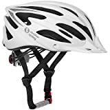 TeamObsidian Airflow Bike Helmet - for Adult Men & Women and Youth/Teenagers - CPSC Certified Bicycle Helmets for Road, Street or Mountain Biking - Best Cycling Gift Idea [ White/Medium - Large ]