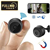 Mini Spy Camera Wireless Hidden Camera WiFi HD 1080P Small Nanny Cam Home Security Motion Detection Nigh Vision Remote View with Cell Phone App Android iPhone