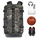 TRAILKICKER 26L Camo Laptop Backpack, Camouflage Backpack for Gym, Sports Bag for Basketball, Soccer, Football and Volleyball