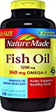 Nature Made Fish Oil 1200 mg w. Omega-3 360 mg Softgels Mega Size 230 Ct
