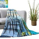 YOYI Blanket as Bedspread Luxury Hotel Pool Near Beach TRE Exotic R ort Umbrella Sunbed Chair Cozy and Durable Fabric-Machine 70'x90'