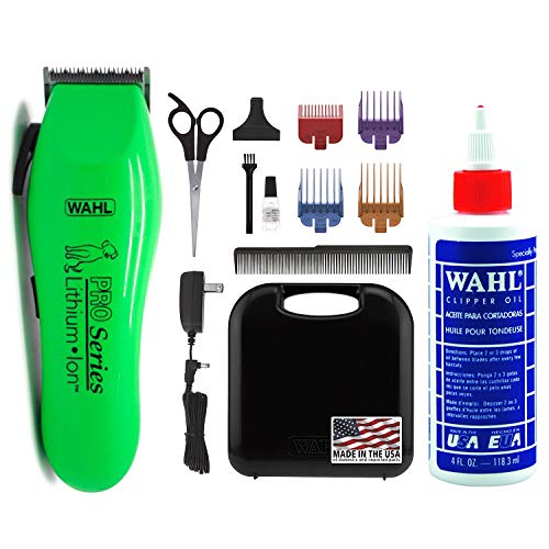 WAHL Lithium Ion Pro Series Cordless Dog Clippers, Rechargeable Low Noise/Quiet...