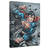 Superman Indestructible Stretched Canvas Framed Artwrap, 20x30