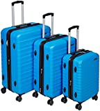 AmazonBasics Hardside Spinner Luggage - 3 Piece Set (20', 24', 28'), Light Blue