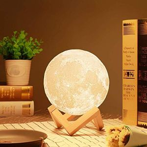 3D Light Moon Lamp Touch Sensor Color Changing