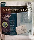 Biddeford 5900 Automatic Electric Heated Mattress Fitted Pad, White (Queen)