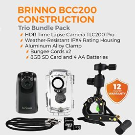 Brinno-BCC200-Construction-Outdoor-Security-Time-Lapse-Camera-Trio-Bundle-Pack-Includes-TLC200-Pro-Camera-Clamp-Water-Resistant-Case-80-Day-Battery-Life-720P