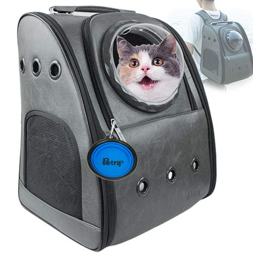 PETRIP Dog Backpack Carrier Cat Backpack for Large Cats 22 lbs Pet Carrier Backpack for Medium Dogs Cat Carrier Backpacks Bubble for Hiking Airline Approved Pet Backpack Carrier 1