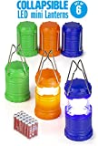 Dawhud Direct Super Bright Mini Collapsible LED Lantern (6 Pack)
