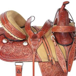 Acerugs Western Comfy Barrel Racing Pleasure Trail Horse Leather Saddle 14 15 16 17 18