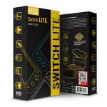 Switch Lite Accessories Bundle – Includes: Case & Screen Protectors [Tempered Glass] for Nintendo Switch Lite (2019), Comfort Grip Case, USB Cable, Headphones & Switch Lite Games Storage Case