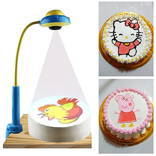 DIY Cake Drawing Projector With 88 Patterns, Cream Cake/Cookies Painting Template, Projecting Cartoon Images to Help Baker Trace and Draw, Battery Operated (Not Included)