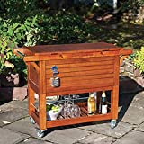 Tommy Bahama Relax 100 Quart / 94.6 L Wood Rolling Cooler