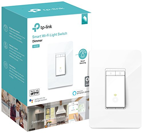 Kasa Smart Light Switch, Dimmer by TP-Link – WiFi Light Switch, Neutral Wire, Works w/ Alexa & Google (HS220)