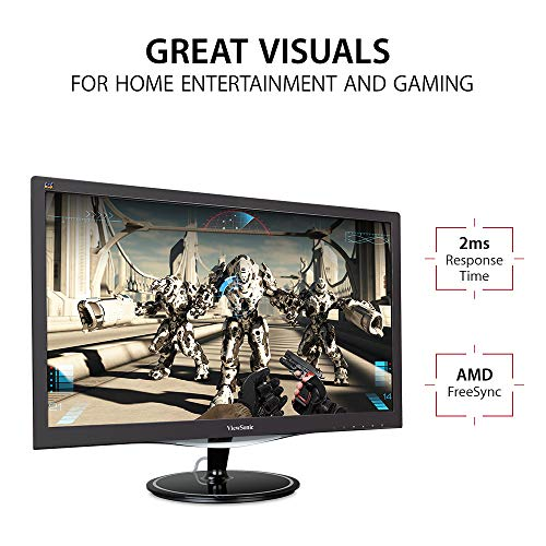 51jcYOIMB%2BL ViewSonic VX2457-mhd (24 Inch) Full HD LED 1080p, 1ms Gaming Monitor, HDMI & VGA, Refresh Rate 75 Hz, Eye Care Technology, Flicker-Free and Blue Light Filter
