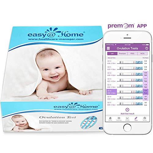 Easy@Home Branded 50 Ovulation (LH) Urine Test Strips Kit, 50 LH Tests