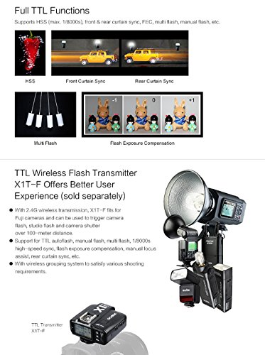 Godox-TT350F-24G-HSS-18000s-TTL-GN36-Camera-Flash-Speedlite-for-Fuji-Cameras-X-Pro2-X-T20-X-T2-X-T1-X-Pro1-X-T10-X-E1-X-A3-X100F-X100T-with-Color-Filters-and-PERGEAR-Cleaning-Cloth