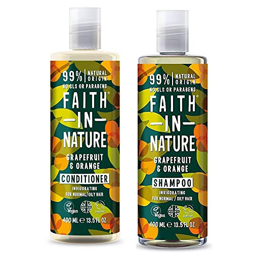 Faith In Nature Grapefruit and Orange Invigorating Shampoo 400ml and Conditioner 400ml Duo