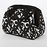 Fit and Fresh Charlotte Insulated Lunch Cooler Thermal Tote Bag for Work/Office/Picnic/Beach, 9' x 6' x 8', Black and White