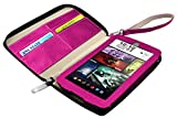 Visual Land ME-WC-018-MAG 8' Wallet Case for 8QS/A8QI/8QI Tablets, Magenta