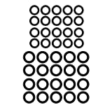 M MINGLE Power Pressure Washer O-Rings for 1/4'', 3/8'', M22 Quick Connect Coupler, 40-Pack